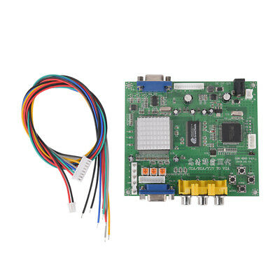 Arcade Game RGB/CGA/EGA/YUV to VGA HD Video Converter Board HD9800/GBS8200 FL