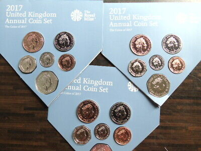 2017 50p 20p 10p 5p 2p 1p  coins out of United Kingdom Annual Coin Set