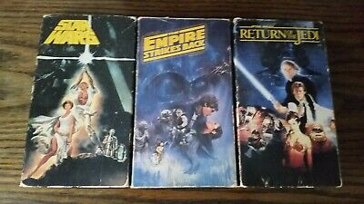 Vintage STAR WARS VHS Tapes CBS/FOX Original Movies