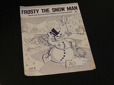 graphic regarding Vintage Christmas Sheet Music Printable,frosty the Snowman referred to as Classic 1950 \