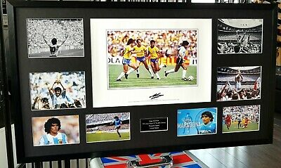 Framed Diego Maradona Argentina World Cup SIGNED Autograph COA 1 ONLY WORLDWIDE