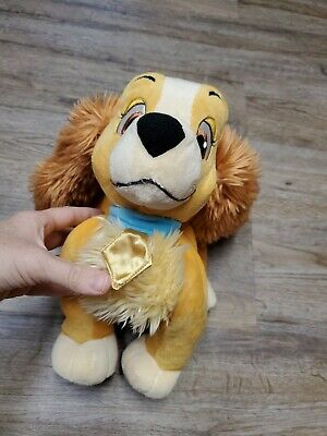 Disney Store Lady and the Tramp 14 inch Stuffed Dog Lady Plush soft toy ships $0