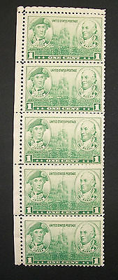 US 1936 SIDE STRIP 5 Army Navy Issue Stamp 1 Cent Jones Barry Scott #790 MNH OG