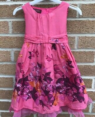 Beautiful Ted Baker Bow Dress In Size 3-4 Years. Party/wedding And Lined.