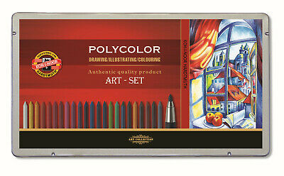 Koh-I-Noor drawing set with coloured leads POLYCOLOR 3896