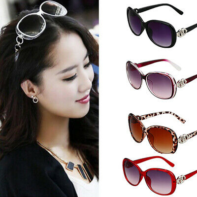 Women Vintage Oversized Sunglasses UV400 Huge Shades Retro Round Eyewear EL