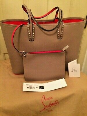 34cad8686a Christian Louboutin Cabata East-West Leather Tote Bag Handbag Antic Taupe  NEW