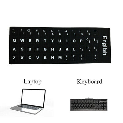 887ba3e7d9b Computer English Keyboard Film Stickers Letters Alphabet Desktop Scrub M NUD