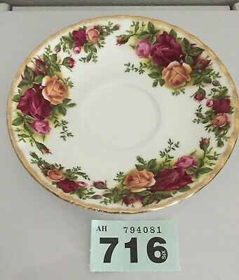 "Royal Albert English Bone China ""Old English Rose"" 5.50"" Dia Saucer -1St Quality"