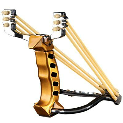 4X(3 Rubber Bands Folding Wrist Catapult Outdoor Games Powerful Hunting Bow O1K4