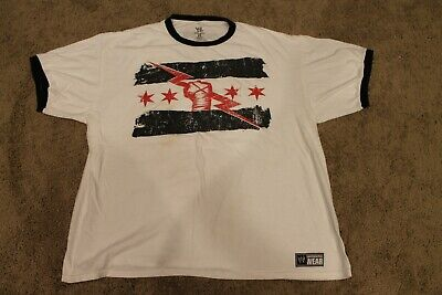 a8f5354df CM Punk WWE Best in the World T Shirt Ringer 2XL XXL AUTHENTIC White Black  Red