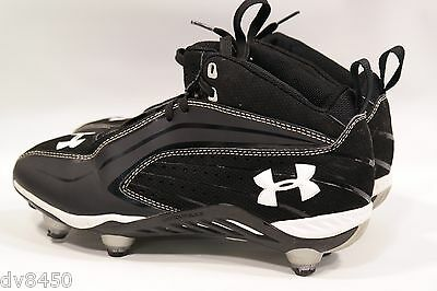edee3c14a875 Under Armour Mens Saber Mid Detachable Football Cleats Shoes Size 7.5