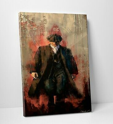 Peaky Blinders Tommy Shelby Modern Abstract Canvas Wall Art Picture Print A0 A1
