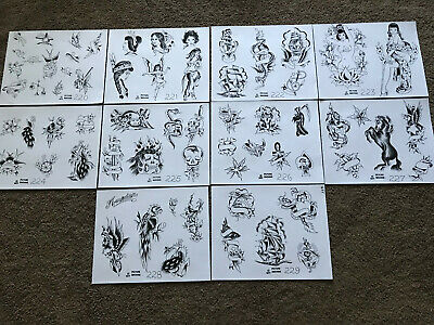10 1977 Picture Machine 220 - 229 Risque Tattoo Flash Art Various Sizes