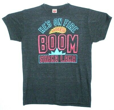 1fd33a81a0f VTG HOMAGE HE'S On Fire Boom Shaka Laka NBA Jam Throwback T-Shirt