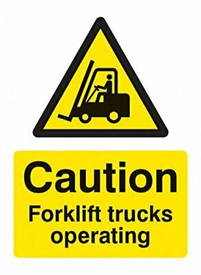 Caledonia Signs 14215K Caution Forklift Truck Operating Sign, 400 mm x 300 mm, R
