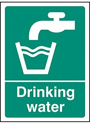 Caledonia Signs 16007ADrinking Water Sign, Rigid Plastic, 100 mm x 75 mm
