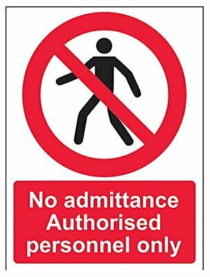 VSafety 52019AN-SNo Admittance Authorised Personnel Only/Pedestrian Prohibition