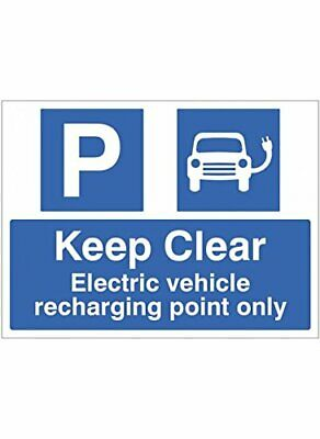Caledonia Signs 17848K Keep Clear Electric Vehicle Recharging Point Only Sign, R