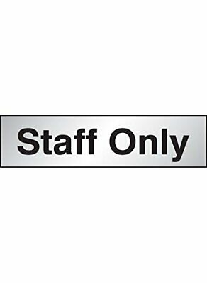 Caledonia Signs 59081 Staff Only Label, Engraved Aluminium Effect Pvc, Sign 140