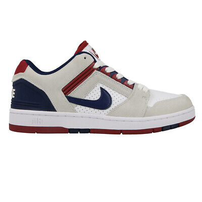 446c60c9471bfe Nike SB Air Force 2 II Low WHITE BLUE VOID RED CRUSH GREY AO0300-100
