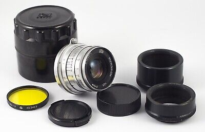 INDUSTAR 26m F/2.8 50mm CHROME m39 LENS CANON NIKON FX NX MFT SONY MINT + MACRO
