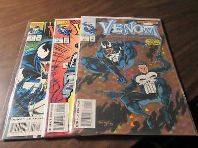 Venom the Funeral Pyre #1 2 3 Spiderman Marvel Mini Series Comic Book Set 1-3