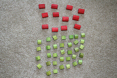 27 Houses 9 Hotels Wooden Monopoly Game Parts Lot 699 Picclick