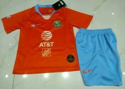 NEW 2019-2020 Club America Home Soccer Jersey Children/'s set Size 16-28