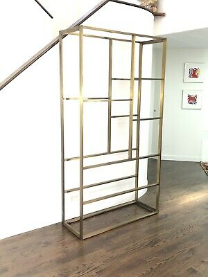 Bronze And Glass Etagere Attributed to Milo Baughman