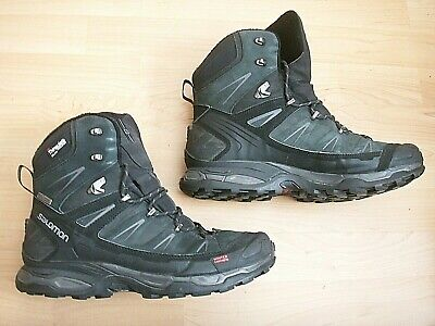 huge discount 2acf9 ce92a NICE SALOMON X ULTRA WINTER CS WP ORTHOLITE 3M THINSULATE MEN'S BLACK BOOTS  11.5