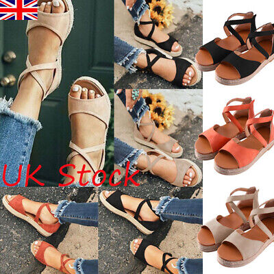 New Womens Ladies Low Heel Wedge Espadrilles Summer Sandals Casual Holiday Shoes