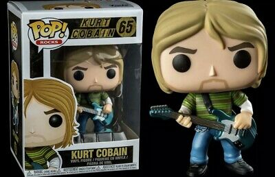 Kurt Cobain Nirvana in Striped Shirt Funko Pop!