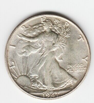 Extremely High Grade  1947-P  90% Silver  Walking Liberty Half Dollar  Lustrous!