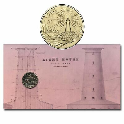 Australia 2015 Lighthouses 100 Years Management $1 Dollar UNC Coin Carded RAM