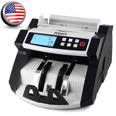 Bill Counter Digital Cash Money Value Counterfeit Detector LCD Display UV A5K0