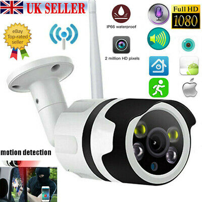 1080P HD Wireless WIFI IP Camera Network Cam CCTV In/Outdoor Security IR Night