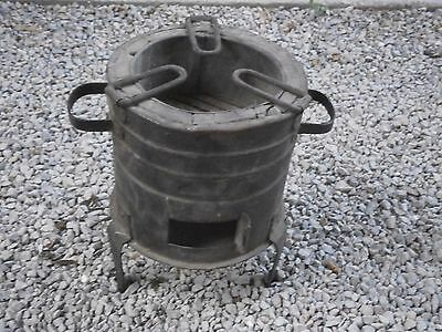 Antique Vintage Iron Millitary Stove