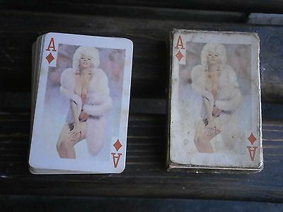 """Vintage Rare Antique Retro Playing Cards """"54 Models"""" Charming Nudes"""