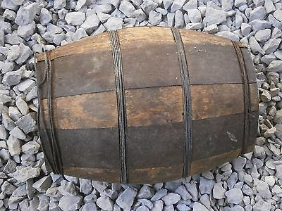 Old Rare Antique Wooden Keg Canteen Vessel For Water