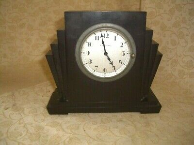 Beautiful Art Deco Bakerlite Mantle Clock
