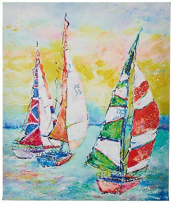Leoma Lovegrove Making Waves Canvas Wall Art One Size Blue/green/red/yellow