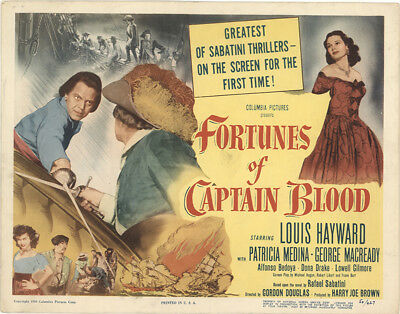 fortunes of captain blood starring louis hayward 1950 dvd