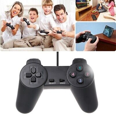 For Laptop Computer PC USB 2.0 Gamepad Gaming Wired Game Joystick Controller