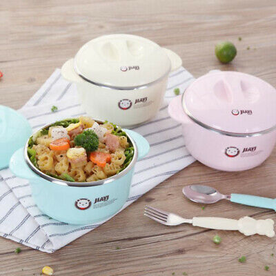 Warming Plate Injection Water Insulation Cup Infants Bowl Baby Food Tableware 6A