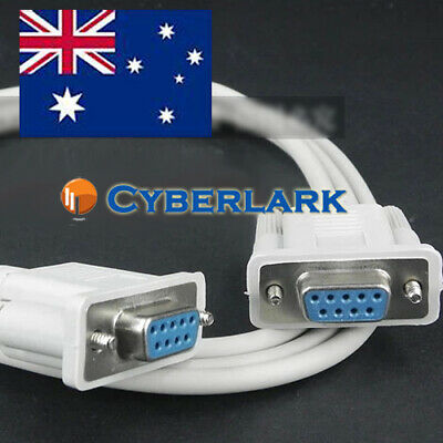 Serial RS232 DB9 23 X-style Female to Female 9 Pin COM Port 1.5m Cable