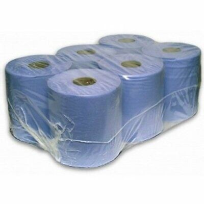 Centre Feed Rolls 6 Pack - 80m & 150M / Blue or White Available