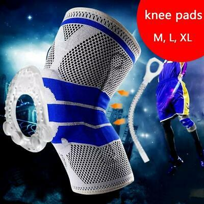 Sport High Compression Silicone Padded Knee Support Sleeve Nylon & Brace Unisex