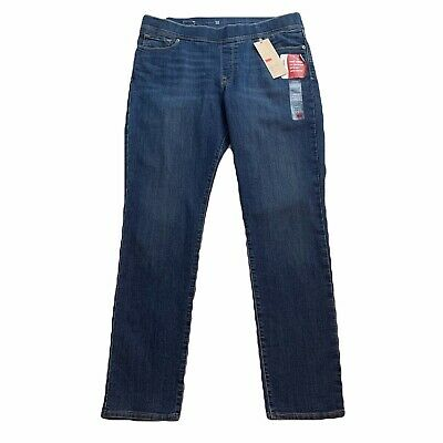 0cc0cee38a7b5 Levi's Womens Perfectly Slimming Pull-On Leggings 14 L Jeans MED Wash NWT  $54