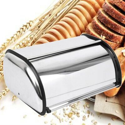 Large Stainless Steel Bread Box Storage Bin Food Keeper Kitchen Loaf Container